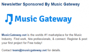 Sponsor Our Newsletters and reach thousands of musicians.