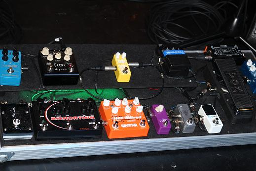Simon McBrides Effects Pedal Board