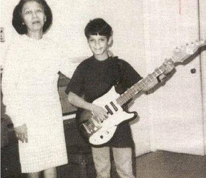 Eddie At 10 Years Old Playing Guitar