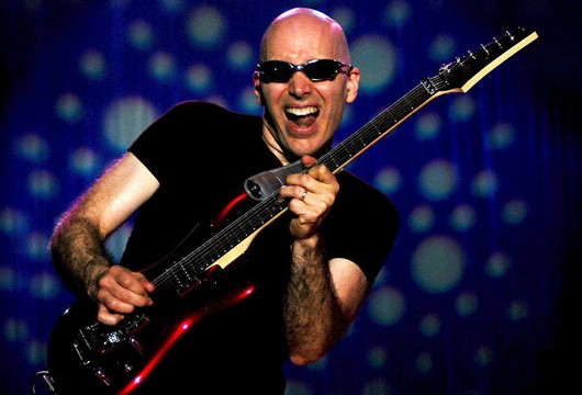 Joe Satriani plays lots of melodic songs