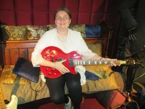 Guitar student Sara Lindsey