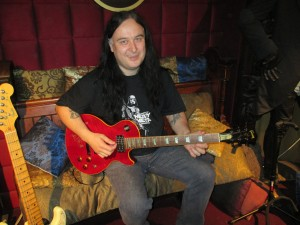 Guitar Teacher Anthony Brownhill with Slash's guitar