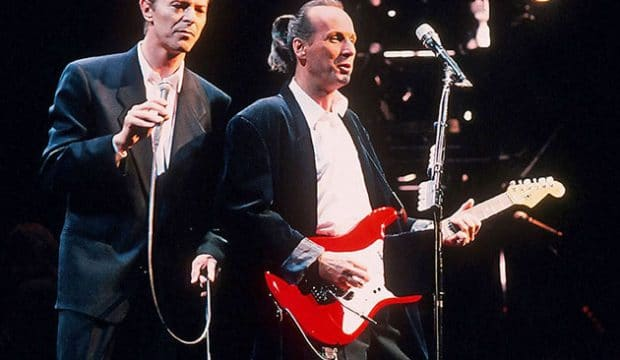 David Bowie with guitarist