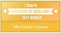 My Guitar Lessons Certificate 2019 Winner.